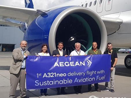Το νέο Α321neo της Aegean με καύσιμα SAF