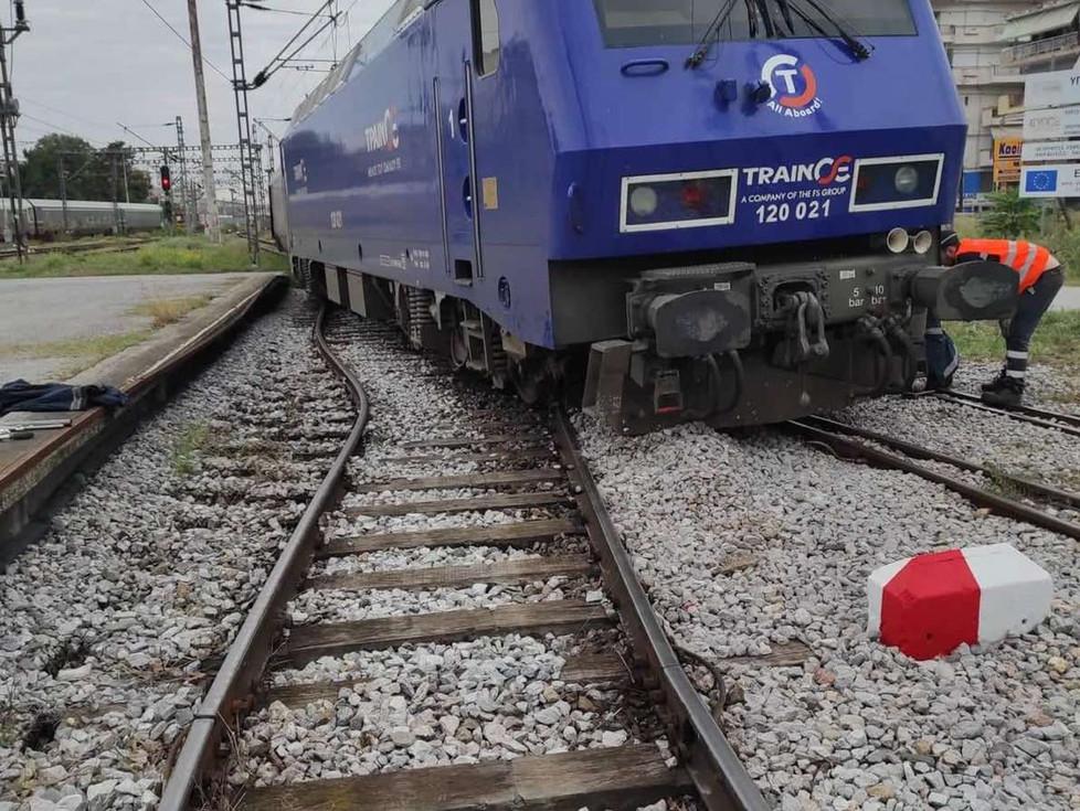 Εκτροχιάστηκε τραίνο πλησίον του Σ.Σ. Θεσσαλονίκης