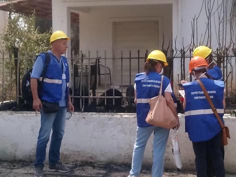 Ολοκληρώνονται και τα δύο στάδια των ελέγχων στα κτίρια των πυρόπληκτων περιοχών