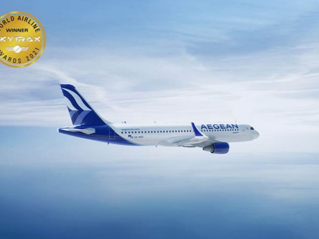 Aegean: η καλύτερη περιφερειακή αεροπορική εταιρεία στην Ευρώπη