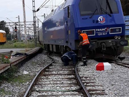 Ο ΟΣΕ για τον εκτροχιασμό του τραίνου στον Σ.Σ. Θεσσαλονίκης