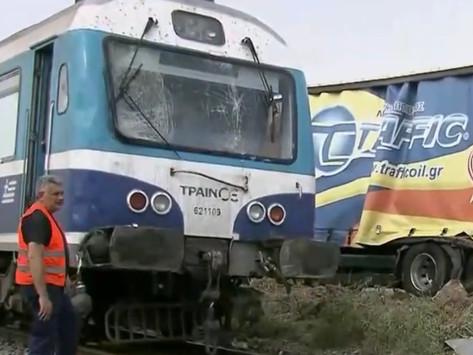 Σύγκρουση τραίνου με φορτηγό