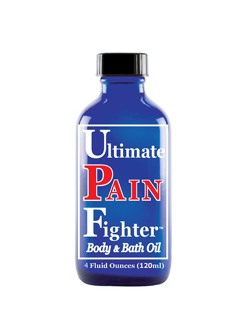 6 - 4 oz. Lid (120ml) Ultimate PAIN Fighter Body & Bath Oil With Lid