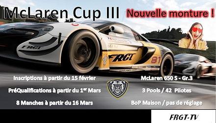 Affiche Mc Laren Cup III