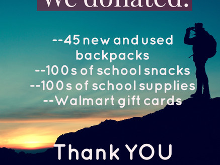 Our Backpack Drive was a Success!