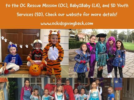 CA Kids Giving Back Halloween Costume Drive