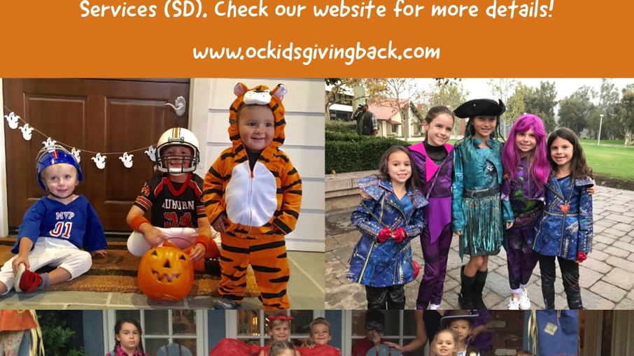 CA Kids Giving Back Halloween Costume Drive
