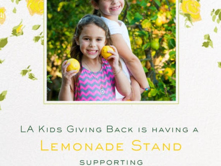 LA Kids Are Holding A Lemonade Stand to Raise Money for Cancer Free Generation