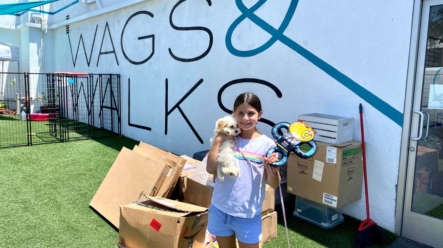 LA Kids Giving Back Supports Wags and Walks