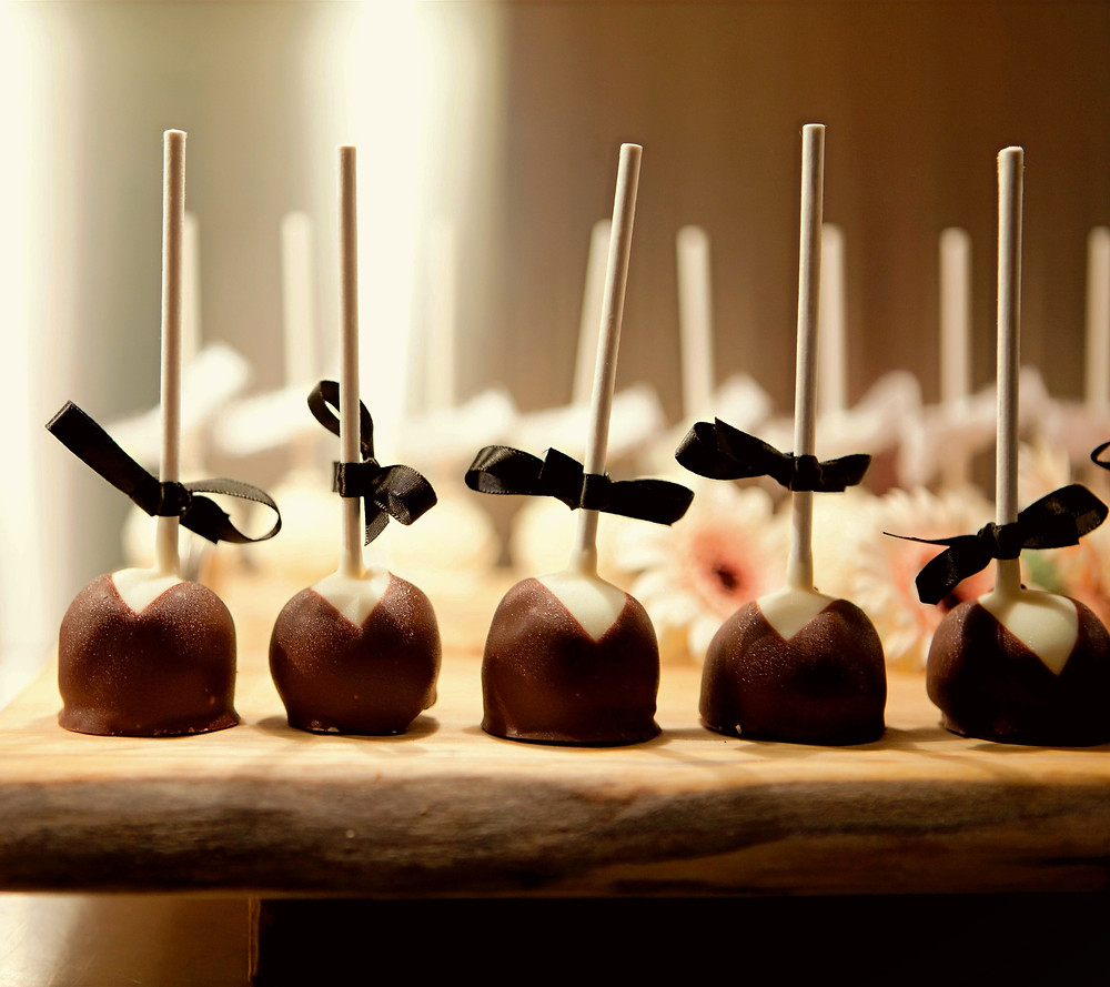 Fancy Chocolate Covered Cherries or Cherry Cordials with little ribbon bows