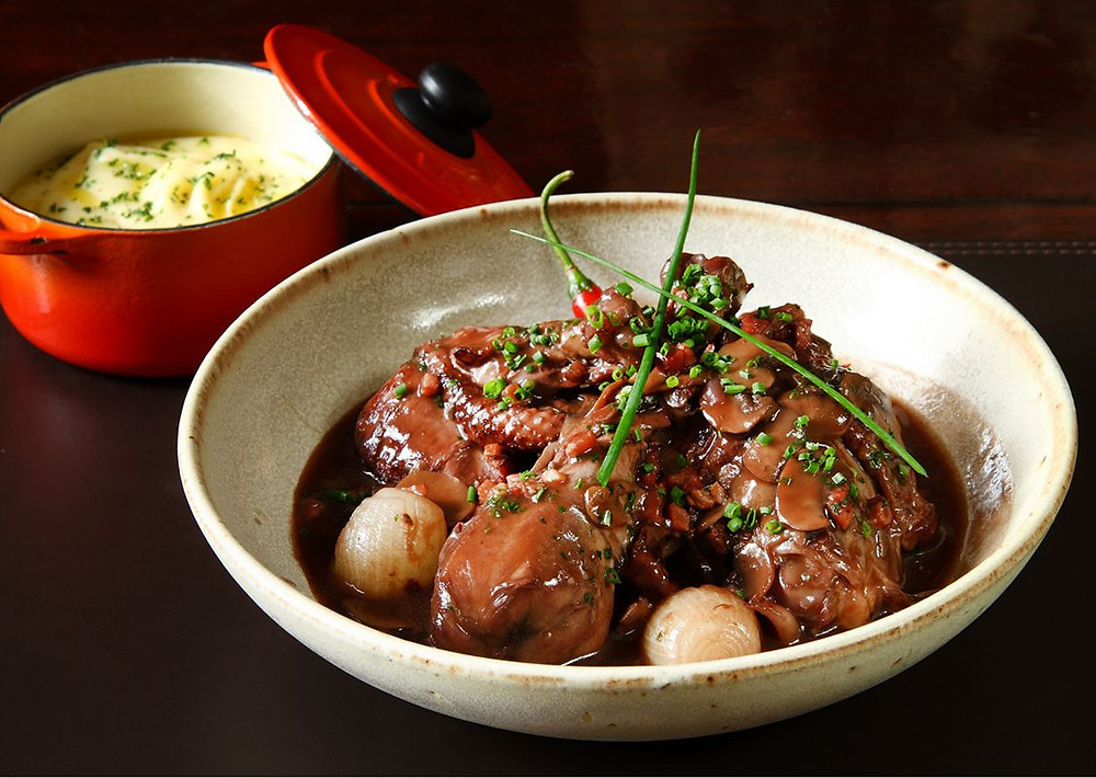 Coq Au Vin with Mashed Potatoes