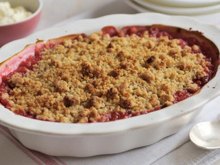 Foodie Friday: Rhubarb Crumble