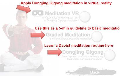 Meditation main menu