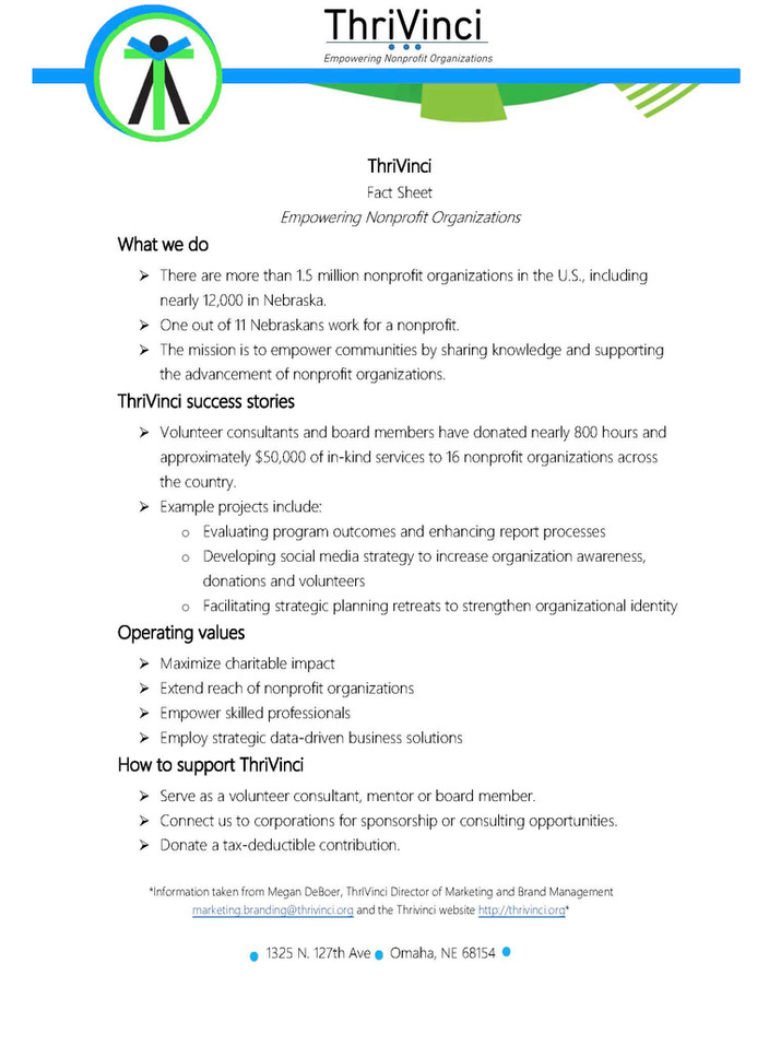 ThriVinci Fact Sheet