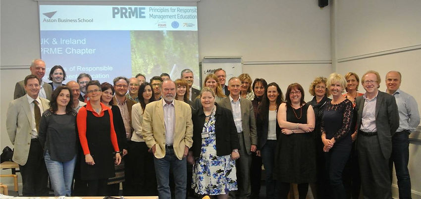 Attendees of the Foundation Meeting of the PRME Chapter Forum UK & Ireland.