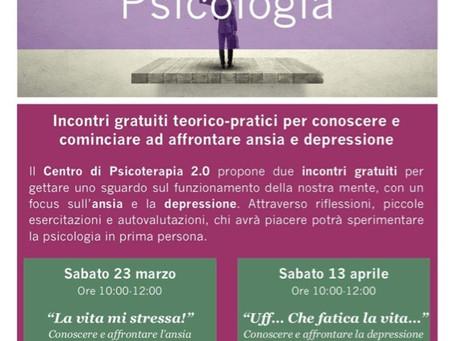 Nuovi incontri gratuiti Praticando la Psicologia