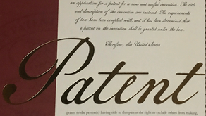 US Patent Original Letters Patent - We got just the Ribbon Copy of the US Patent