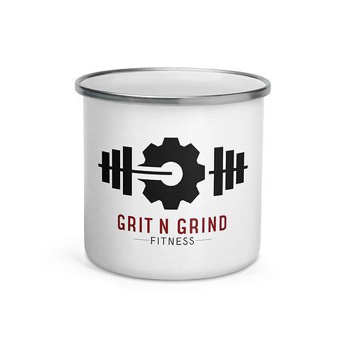 Grit N Grind Fitness Enamel Mug