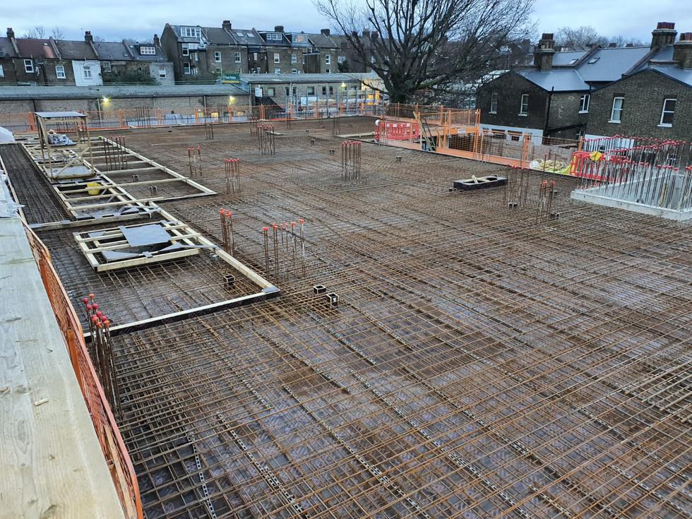 Site progress, kilburn