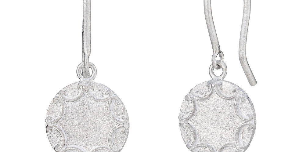 Sterling silver round drops