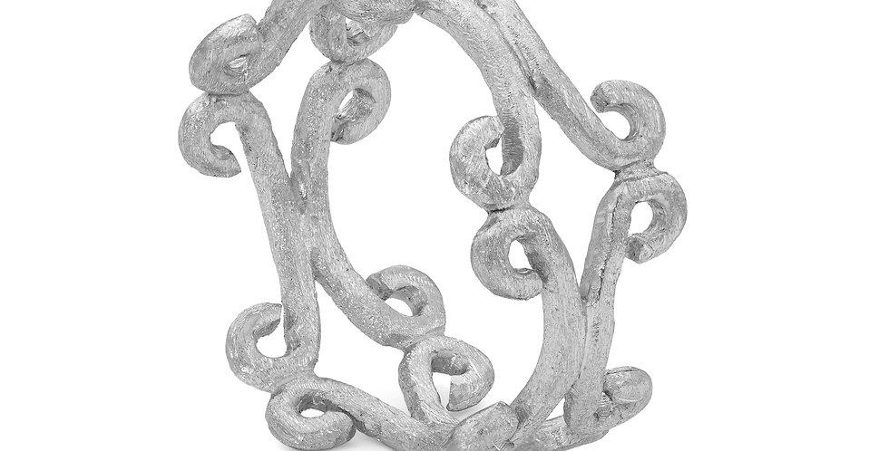 Celeste sterling silver double ring