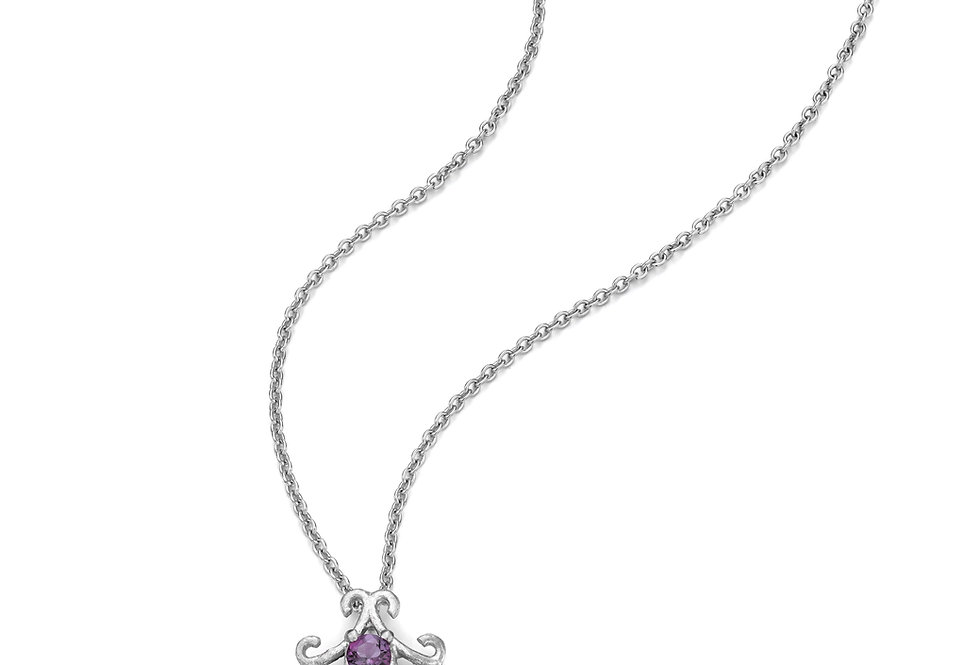 Celeste sterling silver necklace with small pendant