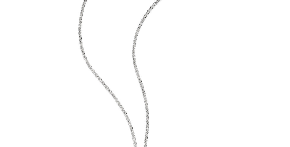 Sterling silver round small necklace