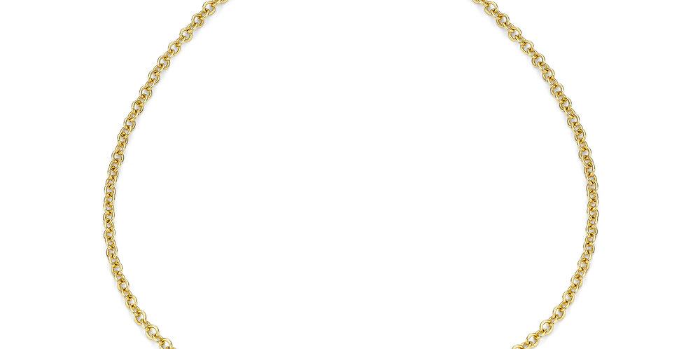9ct yellow gold bracelet and tanzanite