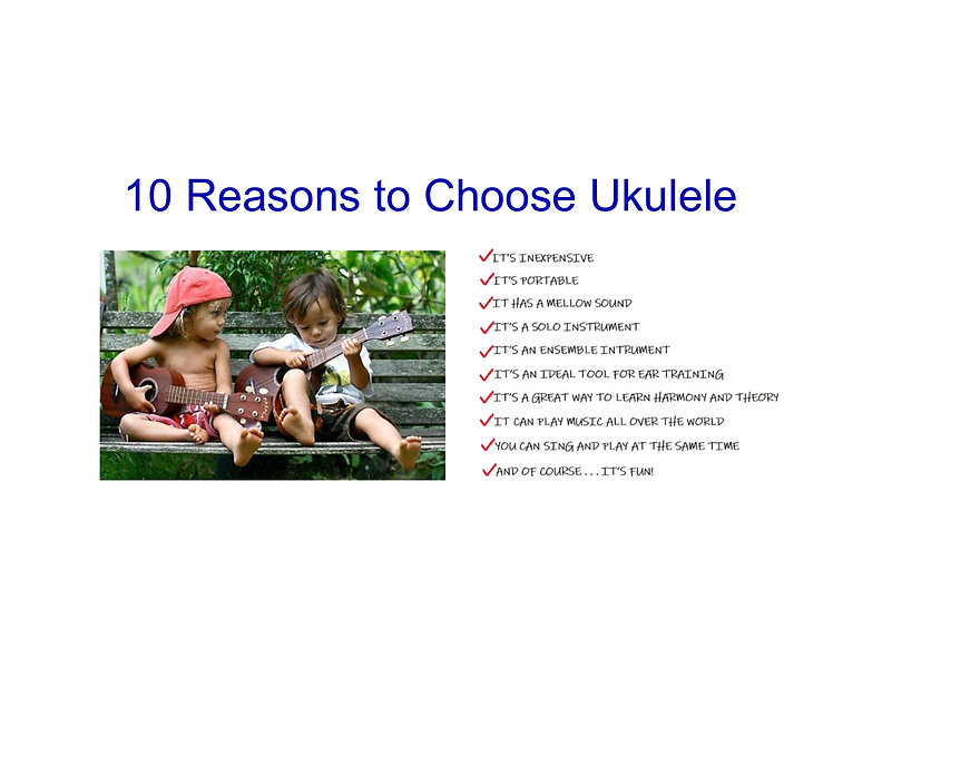 10 Reasons to Choose Ukulele for website