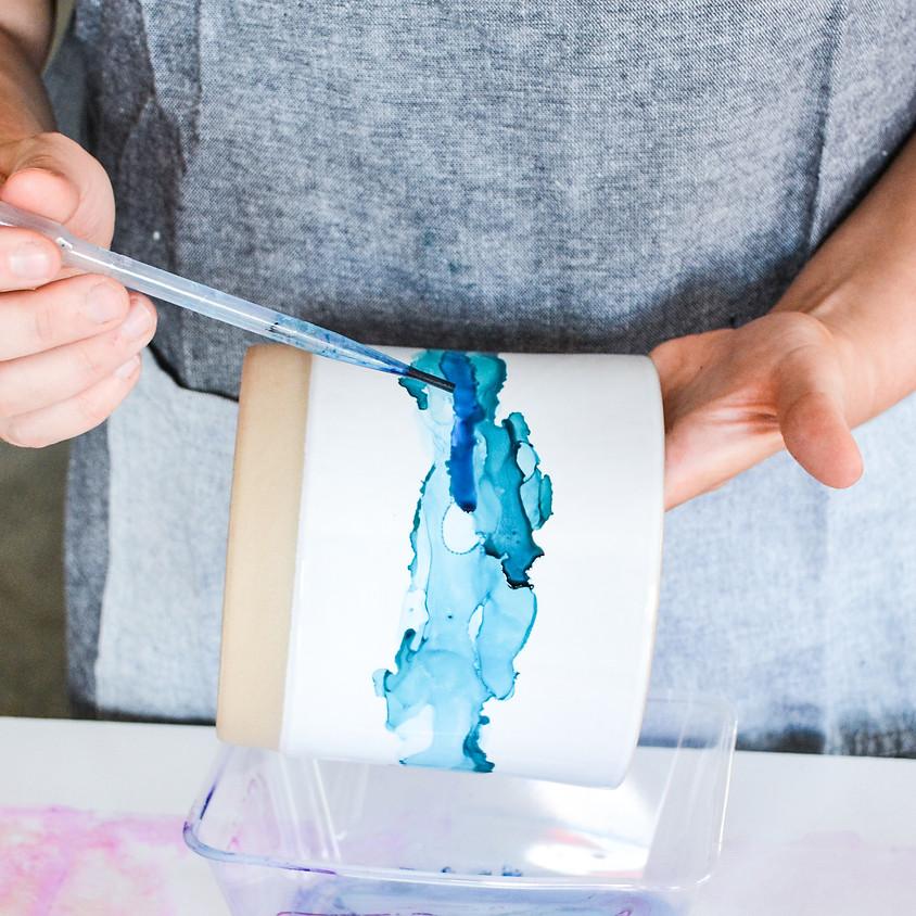 INK ART PLANTERS with Brigitta Rose Studio