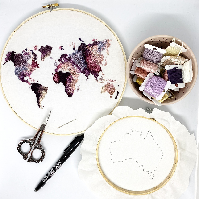 FRENCH KNOT CARTOGRAPHY with Pleasant Valley Sunday