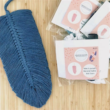 Macramé Feather Wall Charm Kit