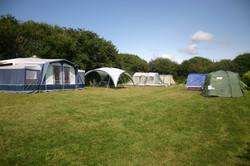 Tents on top tier