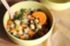 salade de quinoa, avocat, agrumes