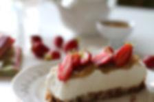 cheesecake rhubarbe & fraise