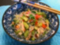 Vermicelle de riz  salade rafraîchissante