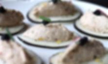 bouchées de radis noir à la rillette de thon