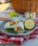 wraps saumon algues avocat