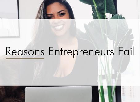 Reasons Entrepreneurs Fail