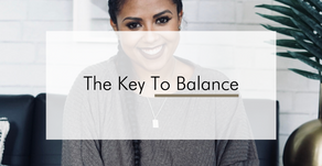 The Key To Finding Balance