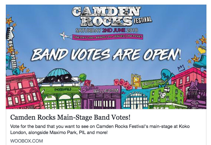 Camden Rocks Festival Poll