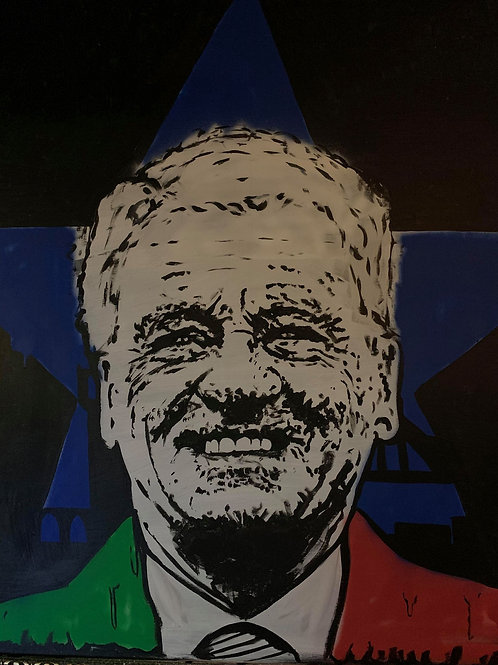 Bobby Robson Mexican Colours Print