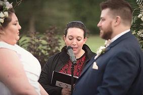 Rabbi Jamie Serber Officiates Wedding