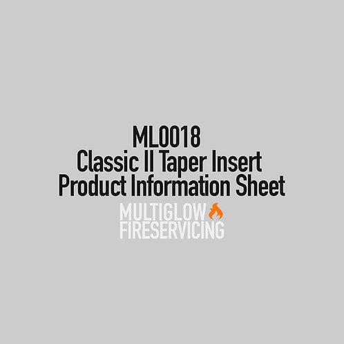 ML0018 - Classic II Taper Insert - Product Information Sheet