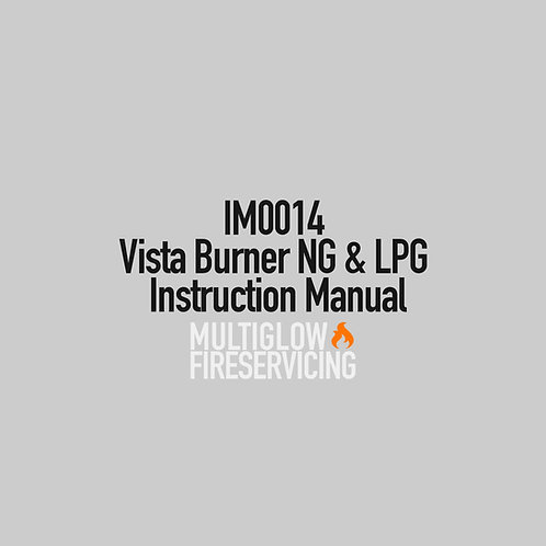 IM0014 - Vista Burner NG & LPG Instruction Manual