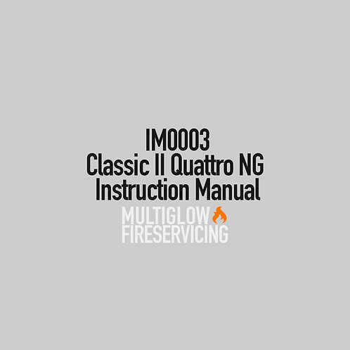 IM0003 - Classic II Quattro NG Instruction Manual