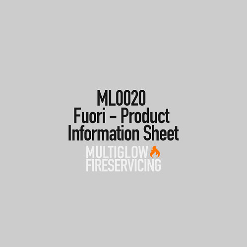 ML0020 - Fuori - Product Information Sheet