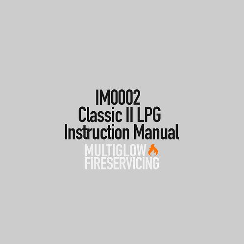 IM0002 - Classic II LPG Instruction Manual