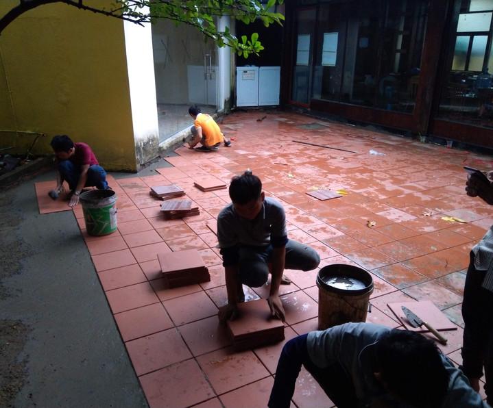 Sửa chữa cải tạo sân biệt thự