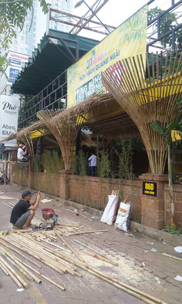 Thi công trang trí quán Món Ngon Quảng Ngãi